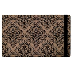 Damask1 Black Marble & Brown Colored Pencil (r) Apple Ipad 2 Flip Case by trendistuff