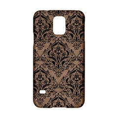 Damask1 Black Marble & Brown Colored Pencil (r) Samsung Galaxy S5 Hardshell Case  by trendistuff