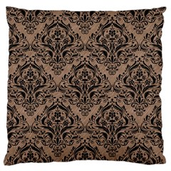 Damask1 Black Marble & Brown Colored Pencil (r) Standard Flano Cushion Case (two Sides) by trendistuff