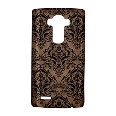 Damask1 Black Marble & Brown Colored Pencil (r) Lg G4 Hardshell Case by trendistuff