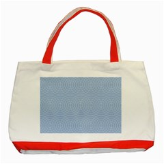 Seamless Lines Concentric Circles Trendy Color Heavenly Light Airy Blue Classic Tote Bag (red) by Mariart