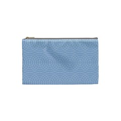Seamless Lines Concentric Circles Trendy Color Heavenly Light Airy Blue Cosmetic Bag (small)  by Mariart
