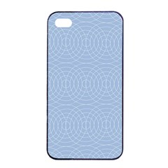 Seamless Lines Concentric Circles Trendy Color Heavenly Light Airy Blue Apple Iphone 4/4s Seamless Case (black) by Mariart