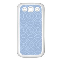 Seamless Lines Concentric Circles Trendy Color Heavenly Light Airy Blue Samsung Galaxy S3 Back Case (white) by Mariart