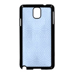 Seamless Lines Concentric Circles Trendy Color Heavenly Light Airy Blue Samsung Galaxy Note 3 Neo Hardshell Case (Black) by Mariart