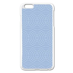 Seamless Lines Concentric Circles Trendy Color Heavenly Light Airy Blue Apple Iphone 6 Plus/6s Plus Enamel White Case by Mariart