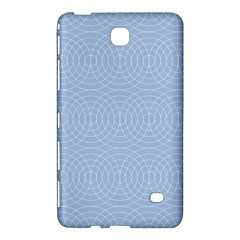 Seamless Lines Concentric Circles Trendy Color Heavenly Light Airy Blue Samsung Galaxy Tab 4 (8 ) Hardshell Case
