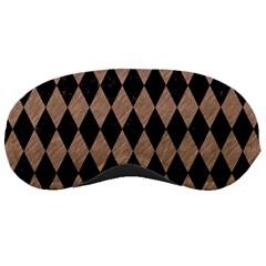 Diamond1 Black Marble & Brown Colored Pencil Sleeping Mask by trendistuff