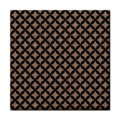 Circles3 Black Marble & Brown Colored Pencil (r) Tile Coaster by trendistuff