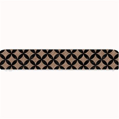 Circles3 Black Marble & Brown Colored Pencil (r) Small Bar Mat by trendistuff