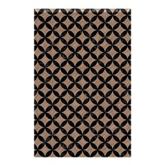 Circles3 Black Marble & Brown Colored Pencil (r) Shower Curtain 48  X 72  (small) by trendistuff