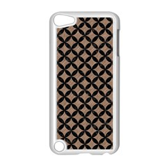 Circles3 Black Marble & Brown Colored Pencil (r) Apple Ipod Touch 5 Case (white) by trendistuff