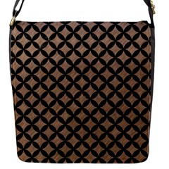 Circles3 Black Marble & Brown Colored Pencil (r) Flap Closure Messenger Bag (s) by trendistuff