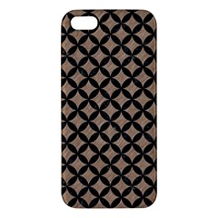 Circles3 Black Marble & Brown Colored Pencil (r) Iphone 5s/ Se Premium Hardshell Case by trendistuff