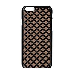 Circles3 Black Marble & Brown Colored Pencil (r) Apple Iphone 6/6s Black Enamel Case by trendistuff