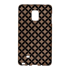 Circles3 Black Marble & Brown Colored Pencil (r) Samsung Galaxy Note Edge Hardshell Case by trendistuff
