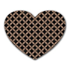 Circles3 Black Marble & Brown Colored Pencil Heart Mousepad by trendistuff