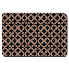 Circles3 Black Marble & Brown Colored Pencil Large Doormat by trendistuff