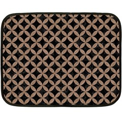 Circles3 Black Marble & Brown Colored Pencil Double Sided Fleece Blanket (mini) by trendistuff