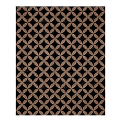 Circles3 Black Marble & Brown Colored Pencil Shower Curtain 60  X 72  (medium) by trendistuff