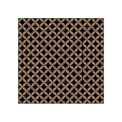 Circles3 Black Marble & Brown Colored Pencil Acrylic Tangram Puzzle (4  X 4 )