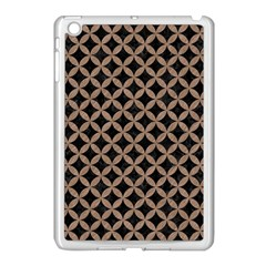 Circles3 Black Marble & Brown Colored Pencil Apple Ipad Mini Case (white) by trendistuff