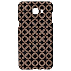 Circles3 Black Marble & Brown Colored Pencil Samsung C9 Pro Hardshell Case  by trendistuff