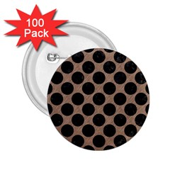Circles2 Black Marble & Brown Colored Pencil (r) 2 25  Button (100 Pack) by trendistuff