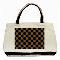 Circles2 Black Marble & Brown Colored Pencil (r) Basic Tote Bag by trendistuff