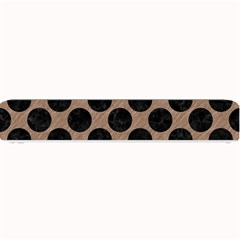 Circles2 Black Marble & Brown Colored Pencil (r) Small Bar Mat by trendistuff
