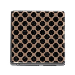 Circles2 Black Marble & Brown Colored Pencil (r) Memory Card Reader (square) by trendistuff