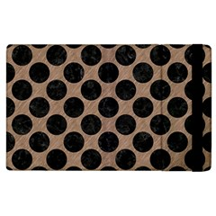 Circles2 Black Marble & Brown Colored Pencil (r) Apple Ipad 3/4 Flip Case by trendistuff