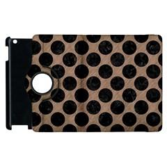 Circles2 Black Marble & Brown Colored Pencil (r) Apple Ipad 3/4 Flip 360 Case by trendistuff