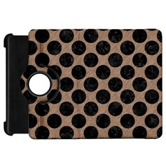 Circles2 Black Marble & Brown Colored Pencil (r) Kindle Fire Hd Flip 360 Case by trendistuff