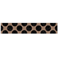 Circles2 Black Marble & Brown Colored Pencil (r) Flano Scarf (large) by trendistuff