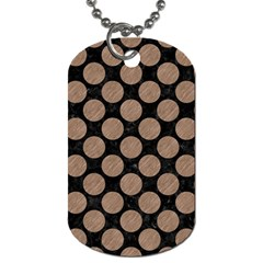 Circles2 Black Marble & Brown Colored Pencil Dog Tag (one Side) by trendistuff