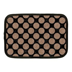Circles2 Black Marble & Brown Colored Pencil Netbook Case (medium) by trendistuff