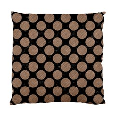 Circles2 Black Marble & Brown Colored Pencil Standard Cushion Case (one Side) by trendistuff