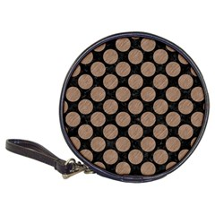 Circles2 Black Marble & Brown Colored Pencil Classic 20 Cd Wallet by trendistuff