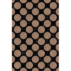 Circles2 Black Marble & Brown Colored Pencil 5 5  X 8 5  Notebook by trendistuff