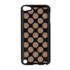 Circles2 Black Marble & Brown Colored Pencil Apple Ipod Touch 5 Case (black) by trendistuff