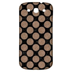 Circles2 Black Marble & Brown Colored Pencil Samsung Galaxy S3 S Iii Classic Hardshell Back Case by trendistuff
