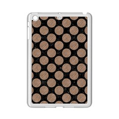 Circles2 Black Marble & Brown Colored Pencil Apple Ipad Mini 2 Case (white) by trendistuff