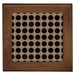 Circles1 Black Marble & Brown Colored Pencil (r) Framed Tile by trendistuff