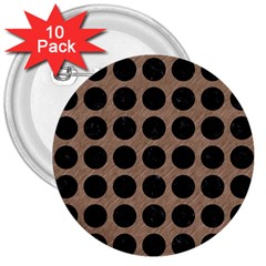 Circles1 Black Marble & Brown Colored Pencil (r) 3  Button (10 Pack) by trendistuff