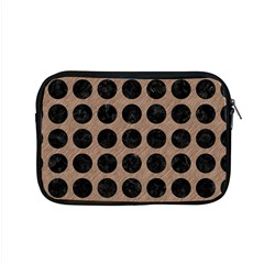 Circles1 Black Marble & Brown Colored Pencil (r) Apple Macbook Pro 15  Zipper Case by trendistuff