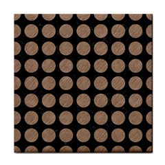 Circles1 Black Marble & Brown Colored Pencil Tile Coaster by trendistuff