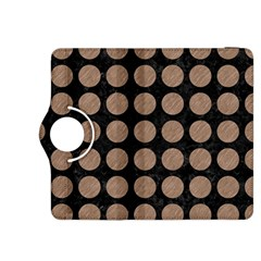 Circles1 Black Marble & Brown Colored Pencil Kindle Fire Hdx 8 9  Flip 360 Case by trendistuff