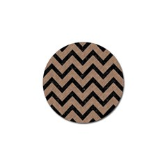 Chevron9 Black Marble & Brown Colored Pencil (r) Golf Ball Marker (10 Pack) by trendistuff