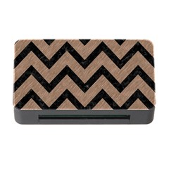 Chevron9 Black Marble & Brown Colored Pencil (r) Memory Card Reader With Cf by trendistuff